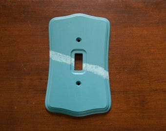 Skyline - Acrylic hand painted single light switch plate cover