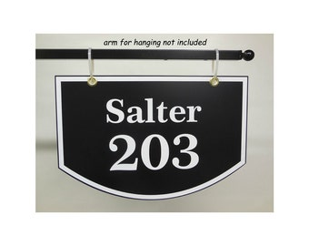 Address Plaque - Two Sided Hanging House Number Sign