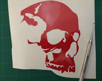 Skull Silhouette Vinyl Decal