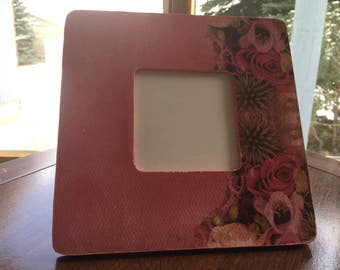 Pink is the color decoupage wooden frame