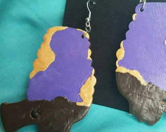 Mother Africa Earring- Custom Handmade Pan African