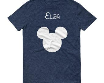 Custom text mouse ears shirt