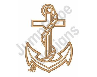 Nautical Anchor - Machine Embroidery Design