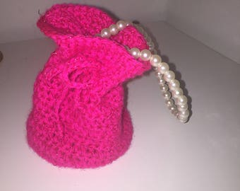jewellery crocheted bag