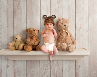 Newborn Baby Bear Hat, Bear Hat, Baby Boy Bear Hat, Bear Hat photo prop