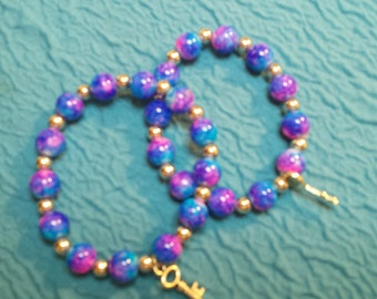 Blue and Pink Charm Bracelets