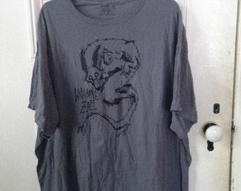 2XL Short Sleeve : Grey w/ Black Ink