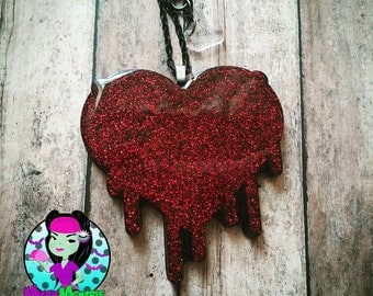Drippy Heart Necklace