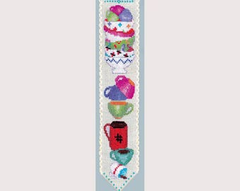 Cross Stitch - Bookmark - Little Dishes
