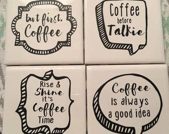 Set of 4 Coffee Coasters