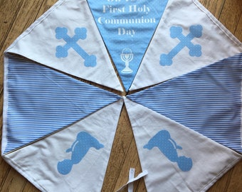 1st Holy Communion fabric bunting extra large flags