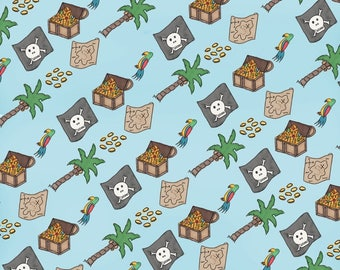 Pirate Themed Wrapping Paper