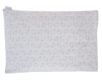 child buckwheat pillow cool grey dinosaurs