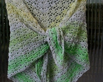 Shawl stole scarf crochet 156x73cm