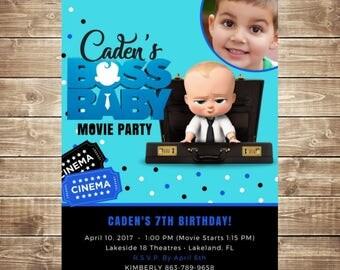 Boss Baby Birthday Invitation Personalized **Digital File**