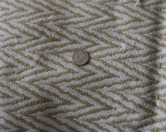 17 Chevron gold and white upholstery fabric
