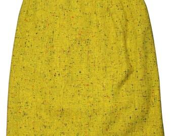 YSL Mottled Wool Skirt