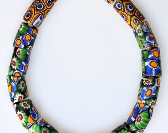 16 Venetian Millefiori Beads - Vintage African Trade Beads - #ST10