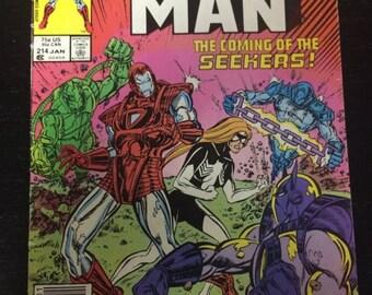 Iron Man # 214 Comic by Marvel Comics