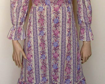 Peasant/gypsy style maxi dress from the 1970's
