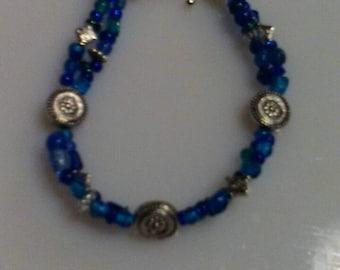 Royal blue charm bracelet