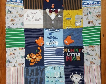 Custom Keepsake Memory Patchwork Blanket