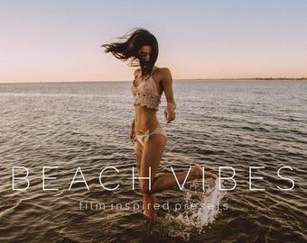 10 Beach Vibes Film Inspired Lightroom Presets