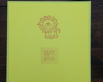 Lion Children's Birthday Card-Animal-Birthday-Greeting Cards-Happy Birthday