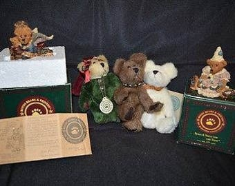 5 Vintage Boyds Bears Ornaments and Other