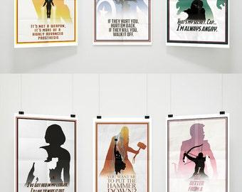 Avengers Minimalist A3 Poster
