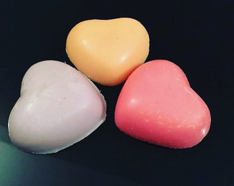10 Large Heart Shaped Wax Melts In Over 60 Scent Choices