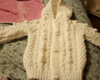 Baby 's Aran Hooded Jacket