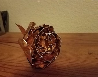 "Ready to ship Copper Flower 3"" dia."