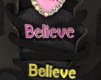 Believe Shoelace Charm