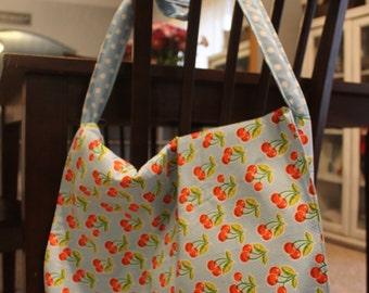 Cherry Printed Messenger Bag
