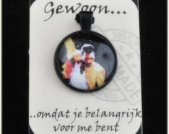 Necklace with cabochon image Freddy Mercury, Queen