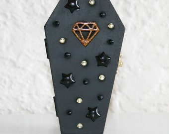 Starry Gold Diamond Coffin Trinket Box