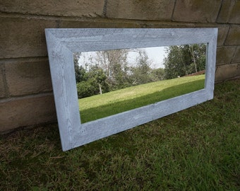 mirror/ white wood  mirrors/ full length mirror/ rustic mirror/ custom mirror/ bathroom mirror