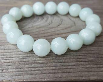 10mm Jade Beaded Bracelet