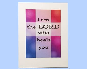 Lord Your Healer Get Well Card//Greeting Card//Get Well Card//Scripture Verse Card//Christian Card