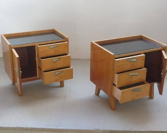 Set of vintage mid century nightstands