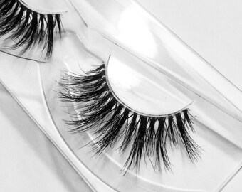 Ava - Luxury 3D Mink Lashes with clear invisible band