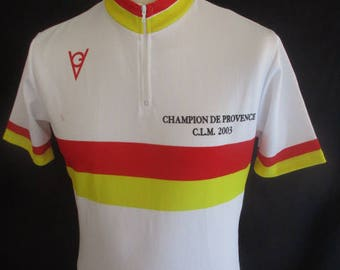 Rare Champion of Provence 2003 white size M vintage cycling Jersey