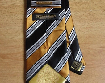 Donald TRUMP single size silk tie to-57%