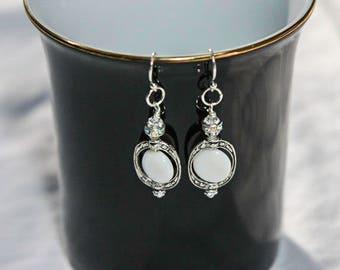 Maya White Shell Earrings