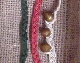 Three string braided bracelet