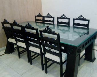 Teak Wood dinning table  with eight chairs