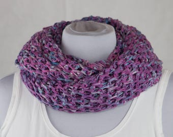 From cotton Ribbon yarn scarf