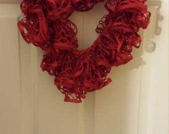 Red Ruffle Finity Scarf