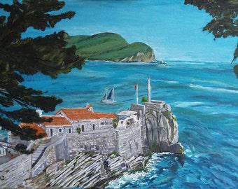Coast of Montenegro ORIGINAL painting